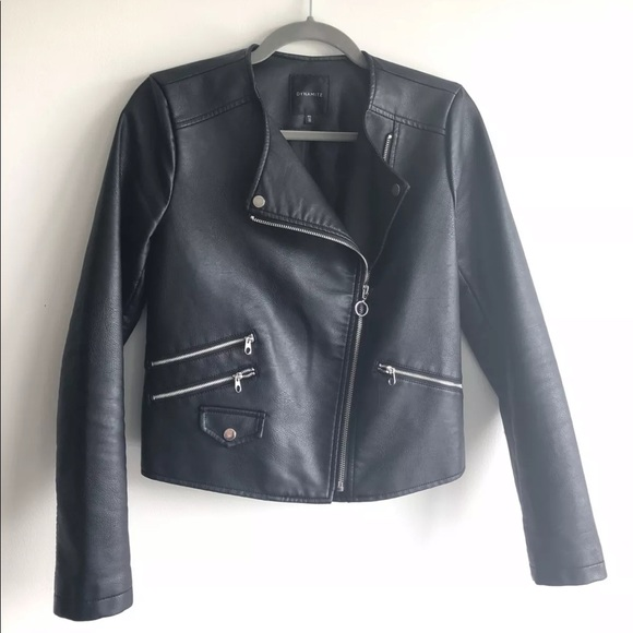 Dynamite Faux Leather Jacket Small